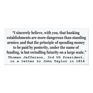 Los bancos son más peligrosos que los ejércitos invitación personalizada