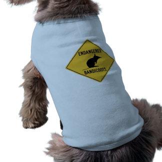 Los Bandicoots en peligro, trafican la señal de Camiseta De Mascota