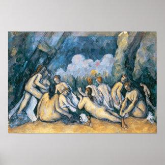 Los bañistas grandes, c.1900-05 póster