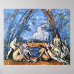 Los bañistas grandes de Paul Cezanne Impresiones