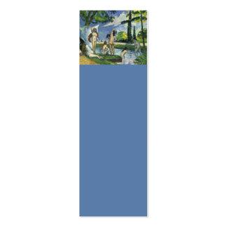 Los bañistas, Paul Cezanne 1874 Tarjetas De Visita Mini