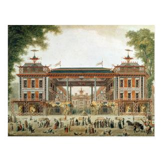 Los baños chinos en París, establecida por Lenoir Tarjeta Postal
