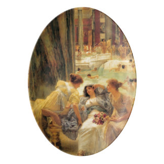 Los baños de Caracalla de Lawrence Alma-Tadema Badeja De Porcelana