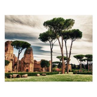 Los baños de Caracalla en Roma Tarjeta Postal