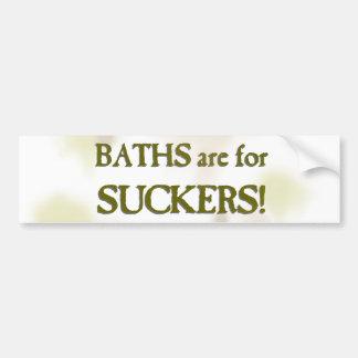 Los baños están para los lechones etiqueta de parachoque