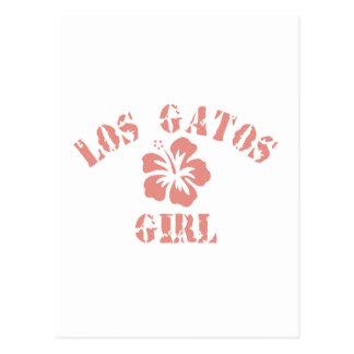 Los Banos Pink Girl Post Card