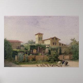 Los baños romanos 1848 poster