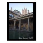 Los baños romanos, baño, Inglaterra Postal