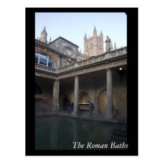 Los baños romanos, baño, Inglaterra Postales