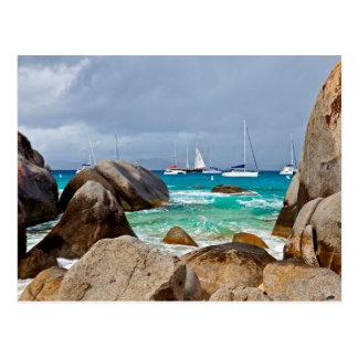 Los baños, Virgen Gorda, British Virgin Islands Tarjetas Postales
