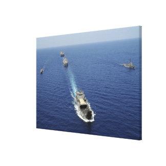 Los barcos de la Armada de la República de Impresión En Lona