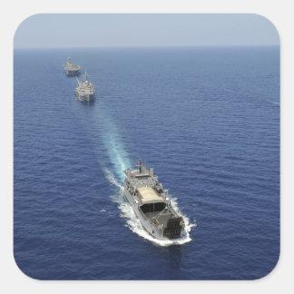 Los barcos de la Armada de la República de Pegatina Cuadrada