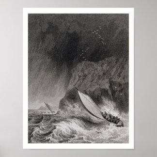 Los barcos de la isla de Walden en una nieve asalt Posters