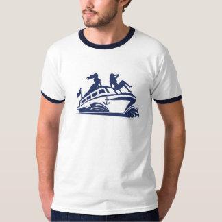Los barcos n azadonan el logotipo playera