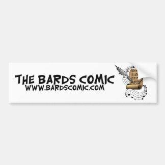 Los bardos cómicos etiqueta de parachoque