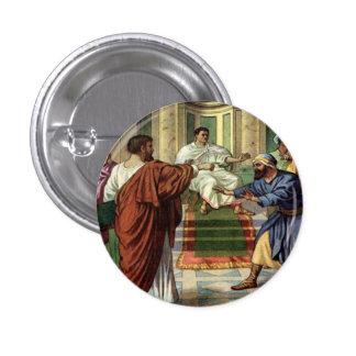 los barnabas y el saul salen botón del misionario pin