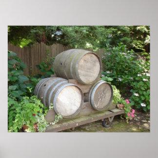Los barriles de vino en California septentrional Impresiones