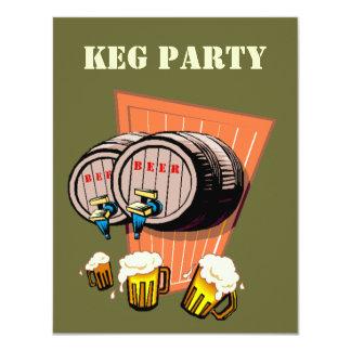 """Los barriletes de cerveza del fiesta del barrilete invitación 4.25"""" x 5.5"""""""