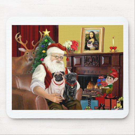 Los barros amasados de Santa 2 (cervatillo + negro Alfombrillas De Ratón