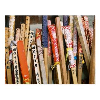 Los bastones de los peregrinos de Japón Tarjeta Postal