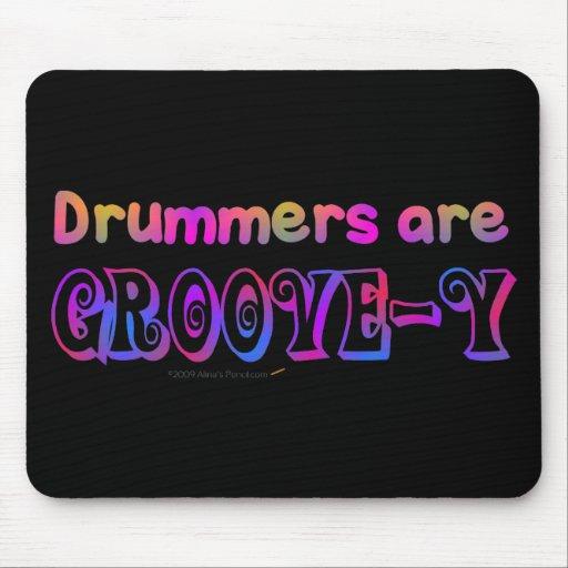 Los baterías son percusión psicodélica de Groovey Tapete De Ratones