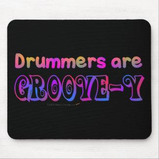Los baterías son percusión psicodélica de Groovey Alfombrillas De Ratón