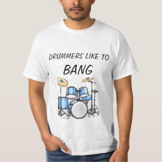 Los baterías tienen gusto a la camiseta de Bangq Remeras