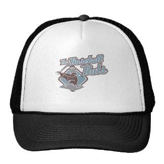 Los bates de béisbol (azules) gorros bordados
