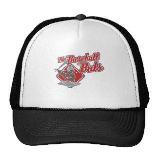 Los bates de béisbol (rojos) gorro de camionero