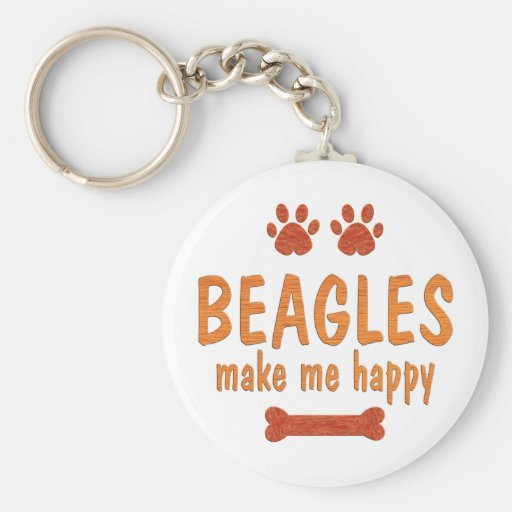 Los beagles me hacen feliz llaveros