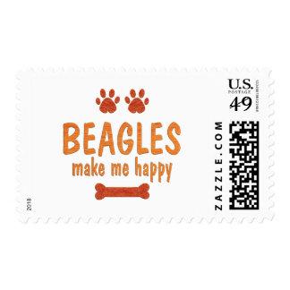 Los beagles me hacen feliz franqueo