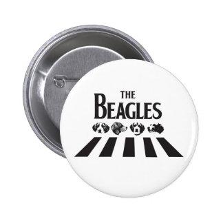 Los beagles pin redondo de 2 pulgadas