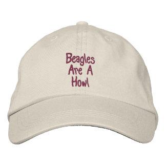 Los beagles son un casquillo bordado lindo del aul gorras de béisbol bordadas