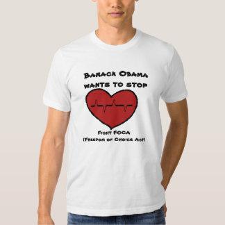 los beatinghearts, Barack Obama quieren parar, Polera