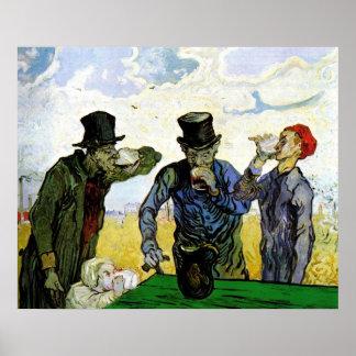 Los bebedores de Vincent van Gogh 1890 Póster