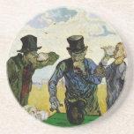 Los bebedores de Vincent van Gogh Posavasos Manualidades