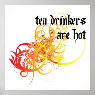 Los bebedores del té son calientes impresiones