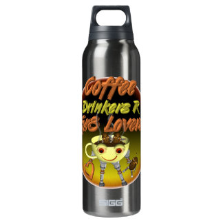 Los bebedores R del café mejoran a amantes Botella Isotérmica De Agua