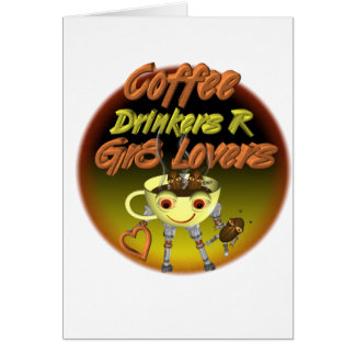 Los bebedores R del café mejoran a amantes Tarjeta De Felicitación
