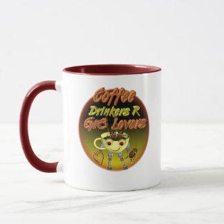 Los bebedores R del café mejoran a amantes Taza