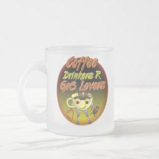 Los bebedores R del café mejoran a amantes Taza De Café Esmerilada