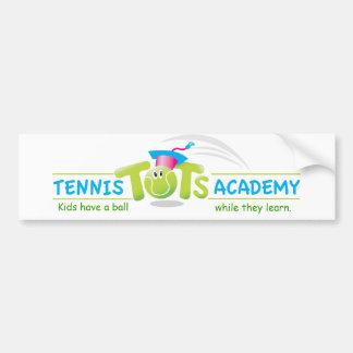 Los bebés Academy_Kids del tenis tienen un Etiqueta De Parachoque