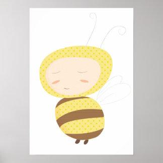 Los bebés animales manosean la impresión de la abe poster