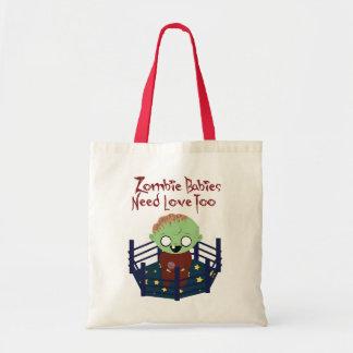 Los bebés del zombi necesitan el tote del amor bolsas de mano