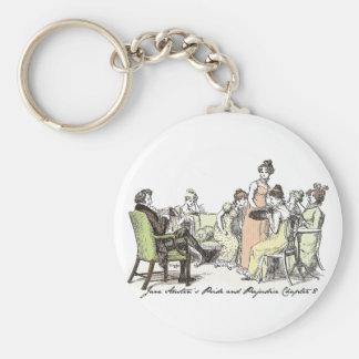 Los Bennets de P&P de Longbourn - de Jane Austen Llavero Redondo Tipo Pin