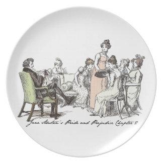 Los Bennets de P&P de Longbourn - de Jane Austen Plato Para Fiesta