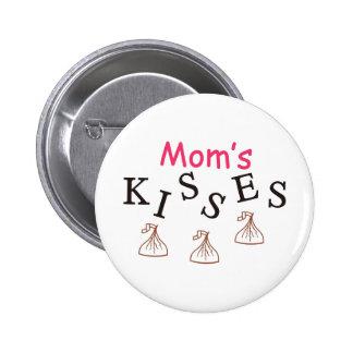Los besos de la mamá pin redondo 5 cm