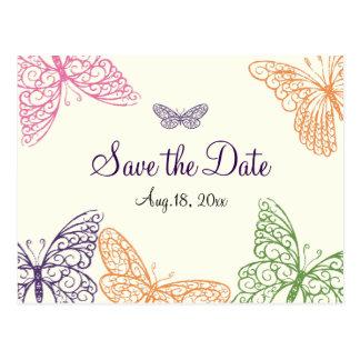 Los besos de la mariposa ahorran la marfil de la f tarjetas postales