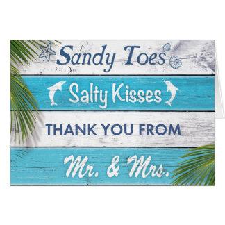 Los besos salados de los dedos del pie de Sandy de Tarjeta Pequeña