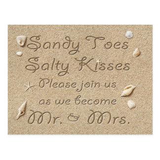Los besos salados de los dedos del pie de Sandy de Tarjetas Postales
